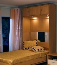 Шкаф-кровать с подсветкой внутри