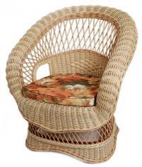Кресло из натурального ротанга изящно и удобно